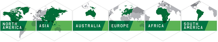 AGI partners with customers across six continents: North America, Asia, Australia, Europe, South America, Africa
