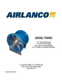 Axial Fan - Installation, Operation, Maintenance Manual