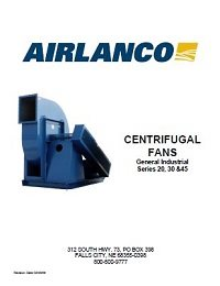 Centrifugal Fan (General Industries) - Installation, Operation, Maintenance Manual