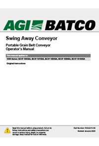 BCX2 Swing away portable grain belt conveyor operator_s manual