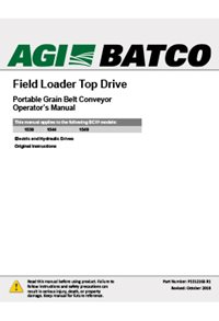 BCX2 Top-drive field loader conveyor (15 series) operation manual