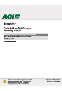 BCX2 Transfer conveyor assembly manual