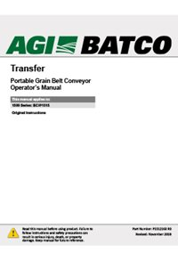 BCX2 Transfer conveyor operation manual