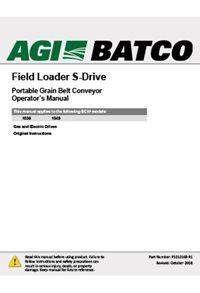 BCX2 s-drive field loader conveyor (15 series) operation manual