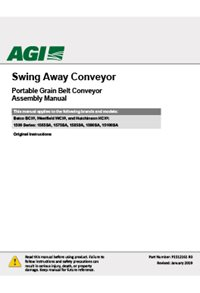 BCX2 swing away portable grain belt conveyor assembly manual