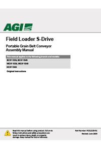 BCX2 Field load s-drive (1500 series) assembly manual