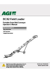 BCX2 Field Loader Portable Grain Belt Conveyor Operator's Manual