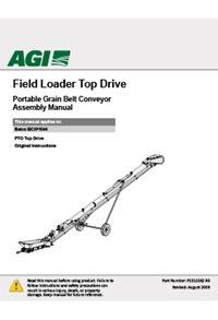 Field Loader Top Drive Portable Grain Belt Conveyor Assembly Manual