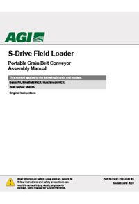 S-drive field loader conveyor (20 series) operation manual