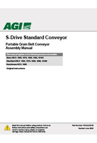 S-drive standard conveyor (15 series) (65-100ft) assembly manual
