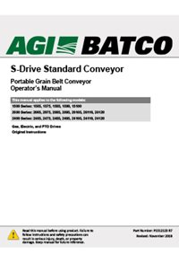 S-drive standard conveyor (15, 20. 24 series) 65-120ft) operation manual