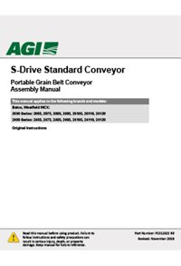 S-drive standard conveyor (20, 24 series)(65-120ft) assembly manual