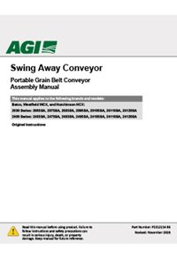 Swing-away conveyor assembly manual