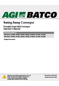 Swing-away conveyor operation manual