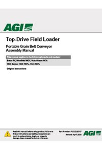 top-drive field loader conveyor assembly manual