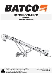Top-drive paddle belt conveyor assembly manual