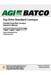 Top-drive standard conveyor operation manual