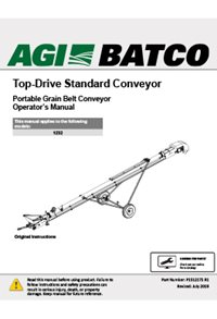 Top-drive standard conveyor(1200 series) operators manual