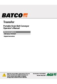 Transfer conveyor operation manual