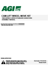 Wheel move kit (for 15-series standard conveyor) assembly manual