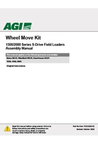 Wheel move kit for 1500 2000 series s-drive field loaders assembly manual