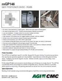 mGP146 Gate Monitor & Controller Data Sheet