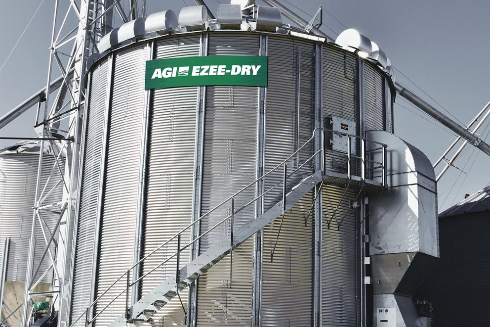 AGI EZEE-DRY is the industry's first-ever roof-top grain drying system. Image