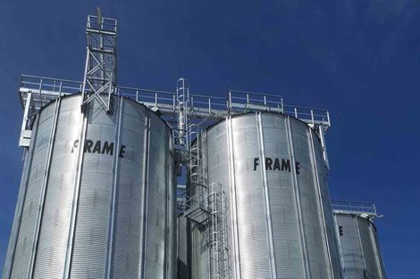 FRAME Commercial Hopper Bottom Silo