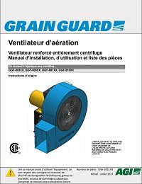Full Centrifugal Heavy-Duty Aeration Fan (CSA) (French)