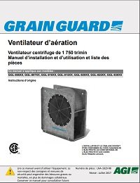 Low-Speed Centrifugal Aeration Fan (French)