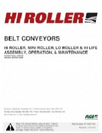 Belt Conveyor - Installation & Operation Manual (European)