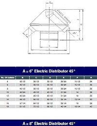 Electric Distributor 45° Model Spec Sheet