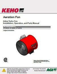 Inline Turbo Aeration Fan Models - Installation, Operation, Parts Manual (ENGLISH)