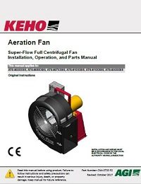 Super-Flow Full Centrifugal Aeration Fan (CE) - Installation, Operation, Parts Manual