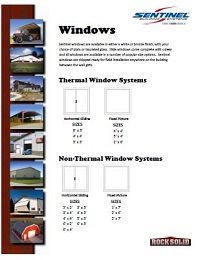 Windows Info Sheet