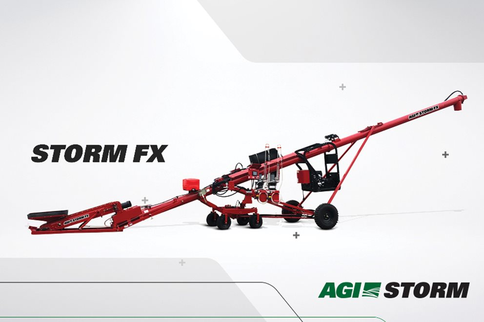 The ultimate in-the-year solution for just-in-time seed treating. STORM FX makes seed treating easy. Image