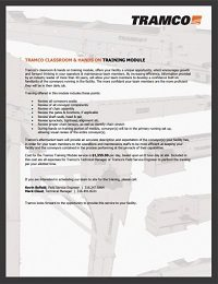 Tramco Training Service Form