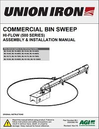 Commercial Bin Sweep (Hi-Flow) Assembly