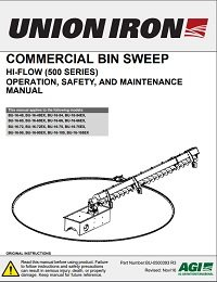 Commercial Bin Sweep (Hi-Flow) Operation