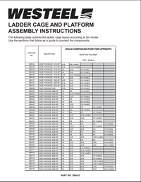 290412 Ladder Cage and Platform Assembly Instructions