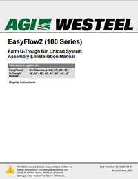 Assembly Manual - BU-0101740 Farm EasyFlow2 U-Trough Bin Unload (100 Series)