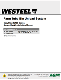 BU-0101704 Farm Tube Bin Unload, EasyFlow2 (100 Series) Assembly Manual