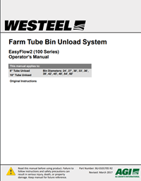 BU-0101705 Farm Tube Bin Unload, EasyFlow2 (100 Series) Operator's Manual