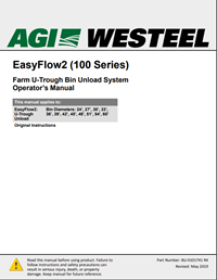 Operator's Manual - BU-0101741 Farm EasyFlow2 U-Trough Bin Unload (100 Series)