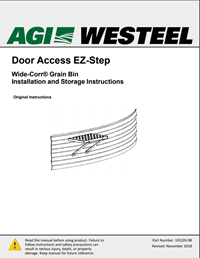 195226 Grain Bin Door Access EZ-STEP Installation Instructions