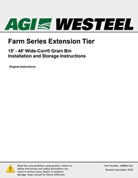 198864 Wide Corr Extension Tiers Installation Instructions