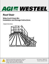 198934 Bin Roof Stairs Installation Instructions