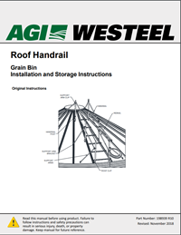 198939 Bin Roof Handrail Installation Instructions