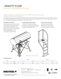 Gravity Flow Safety Ladder Datasheet