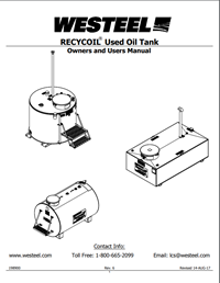 RECYCOIL Used Oil Tank Owners and Users Manual